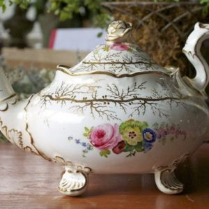 Antique Dragon and Flower Teapot
