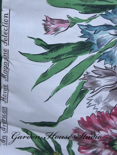 Vintage Waverly Floral Fabric