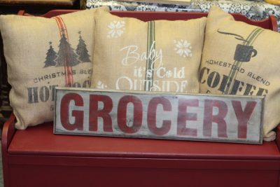 Old sign stencils Grocery
