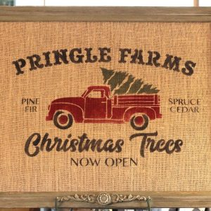 Pringle tree farm sign stencil