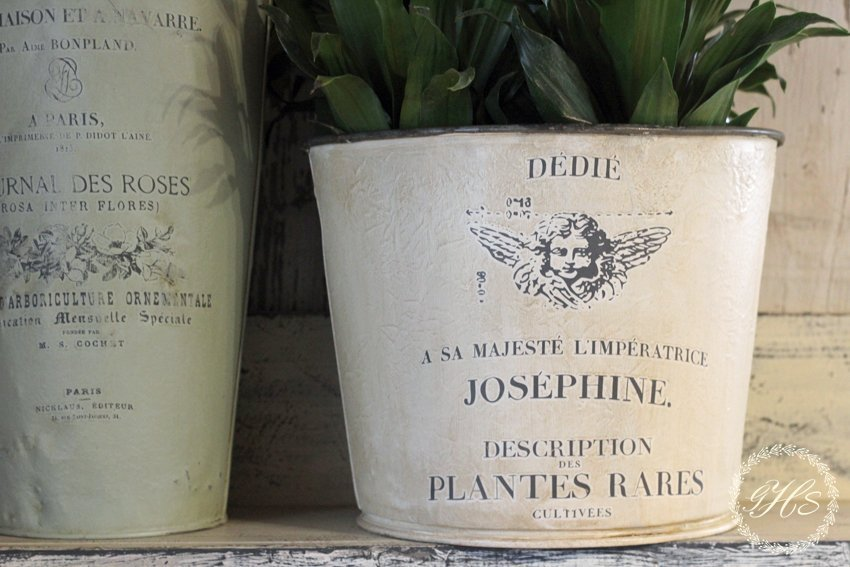 Antique French Flower Bucket