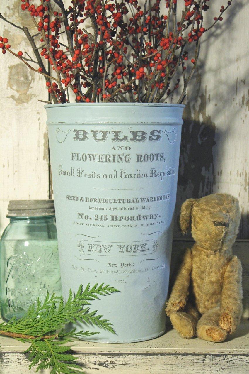 IOD Transfer French Flower Bucket