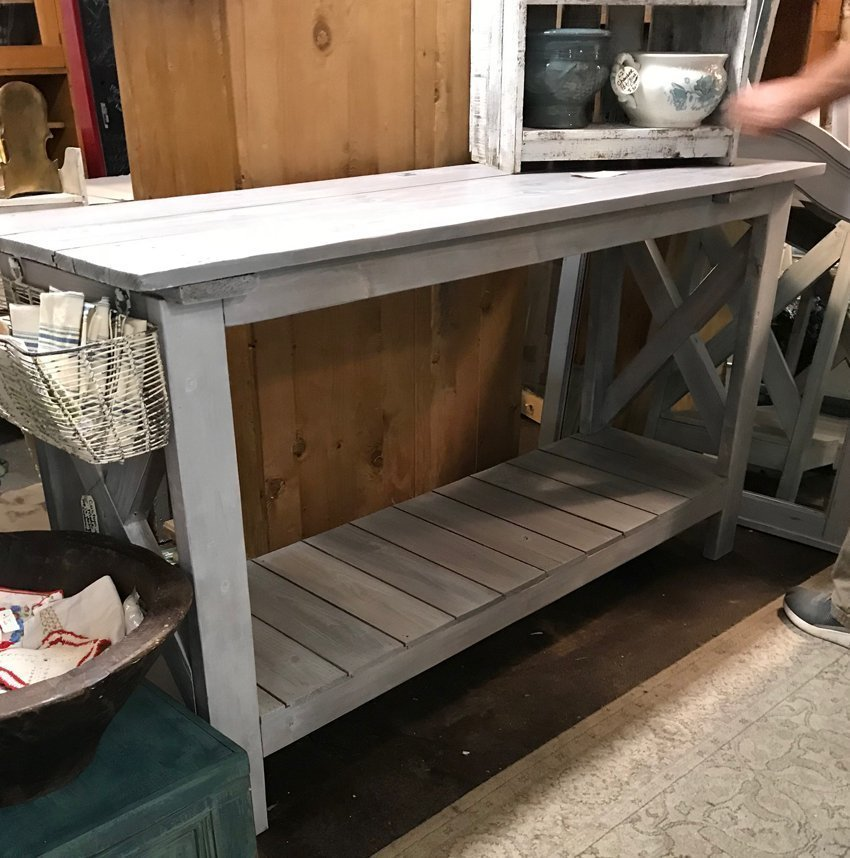 interest knockoff sofa table