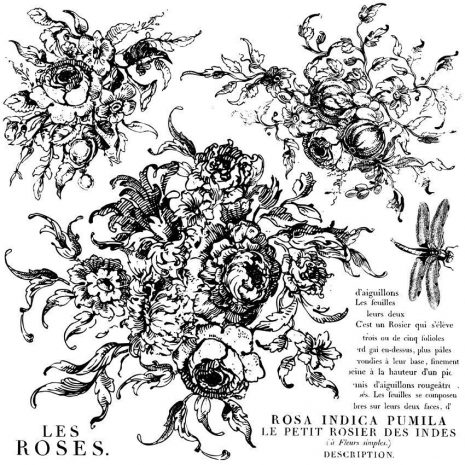 iod stamps rose toile