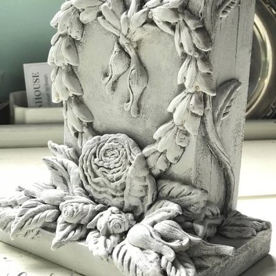 Shabby Chic Bookends with IOD Moulds