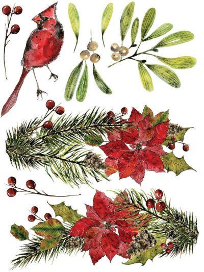woodland Christmas iod transfer