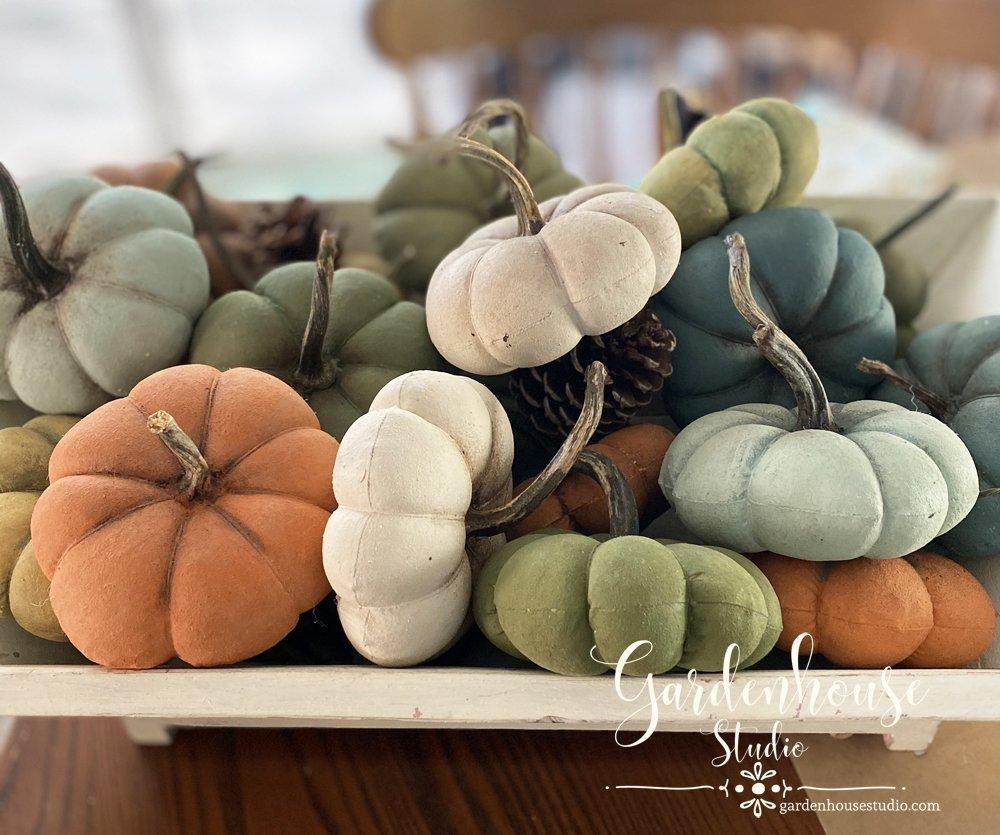DIY Fabric Pumpkins with MMS Milk Paint