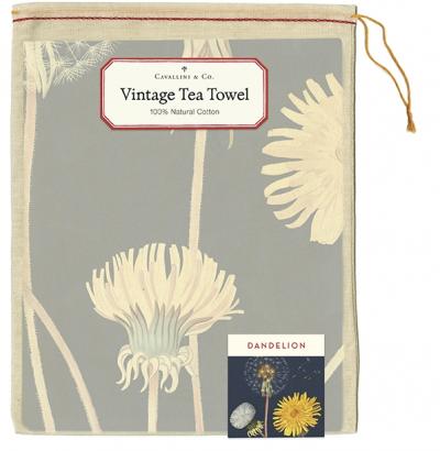 Vintage Dandelion Tea Towel