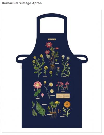 Vintage Graphics apron by Cavallini