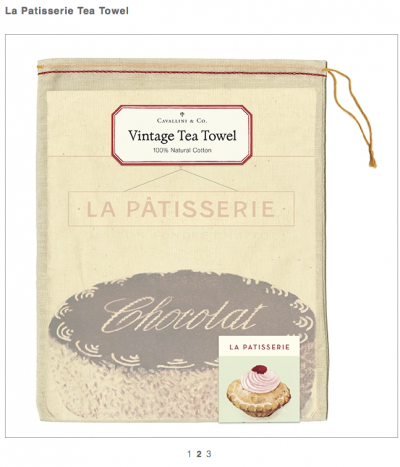French Bakery Vintage Tea Towel