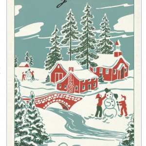 Winter Wonderland Vintage Tea Towel