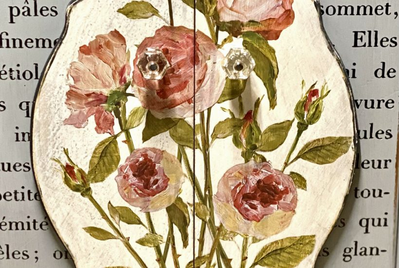 IOD Painterly Florals transfer