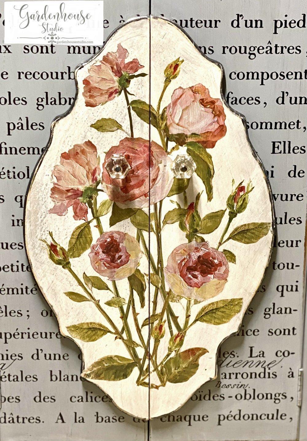 IOD Painterly Florals Transfer Ideas