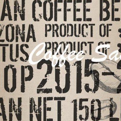 Roycled Decoupage Paper Coffee Sack
