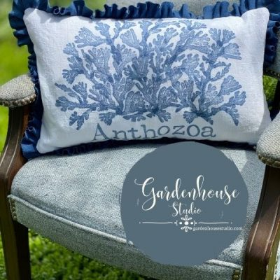 IOD Stamps on Fabric: DIY Room Decor Pillow