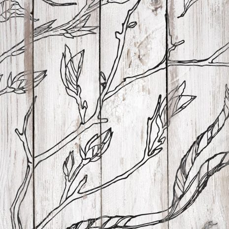 Branches and Vines IOD Stamp