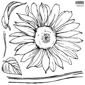 Sunflower IOD Stamp