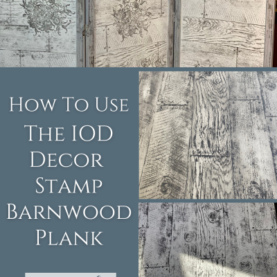 IOD Stamps Tutorial: How to Use The Barnwood Plank Stamp