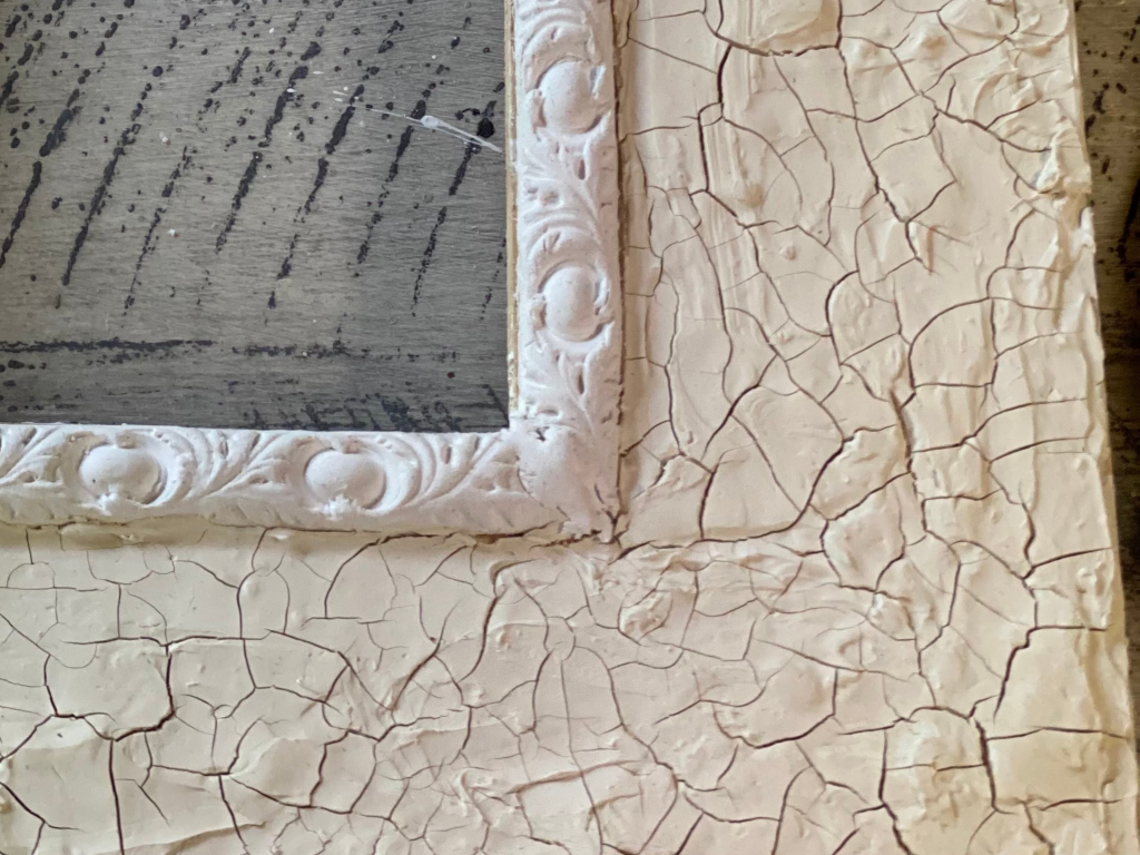 close up frame with IOD air dry clay mould and plaster