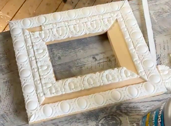 Frame with resin castings from IOD Decor Mould Trimmings 3