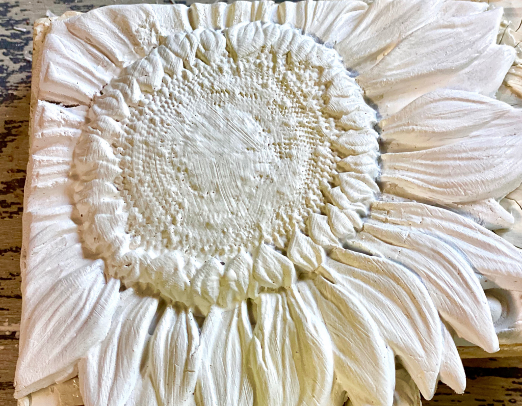 IOD Sunflower Mould in Air Dry Clay