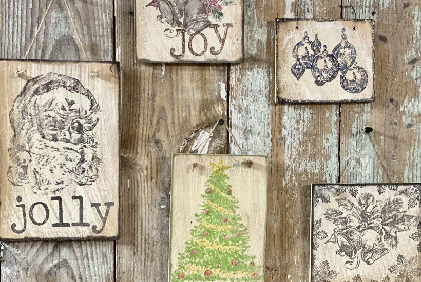Christmas ornaments and wall decor