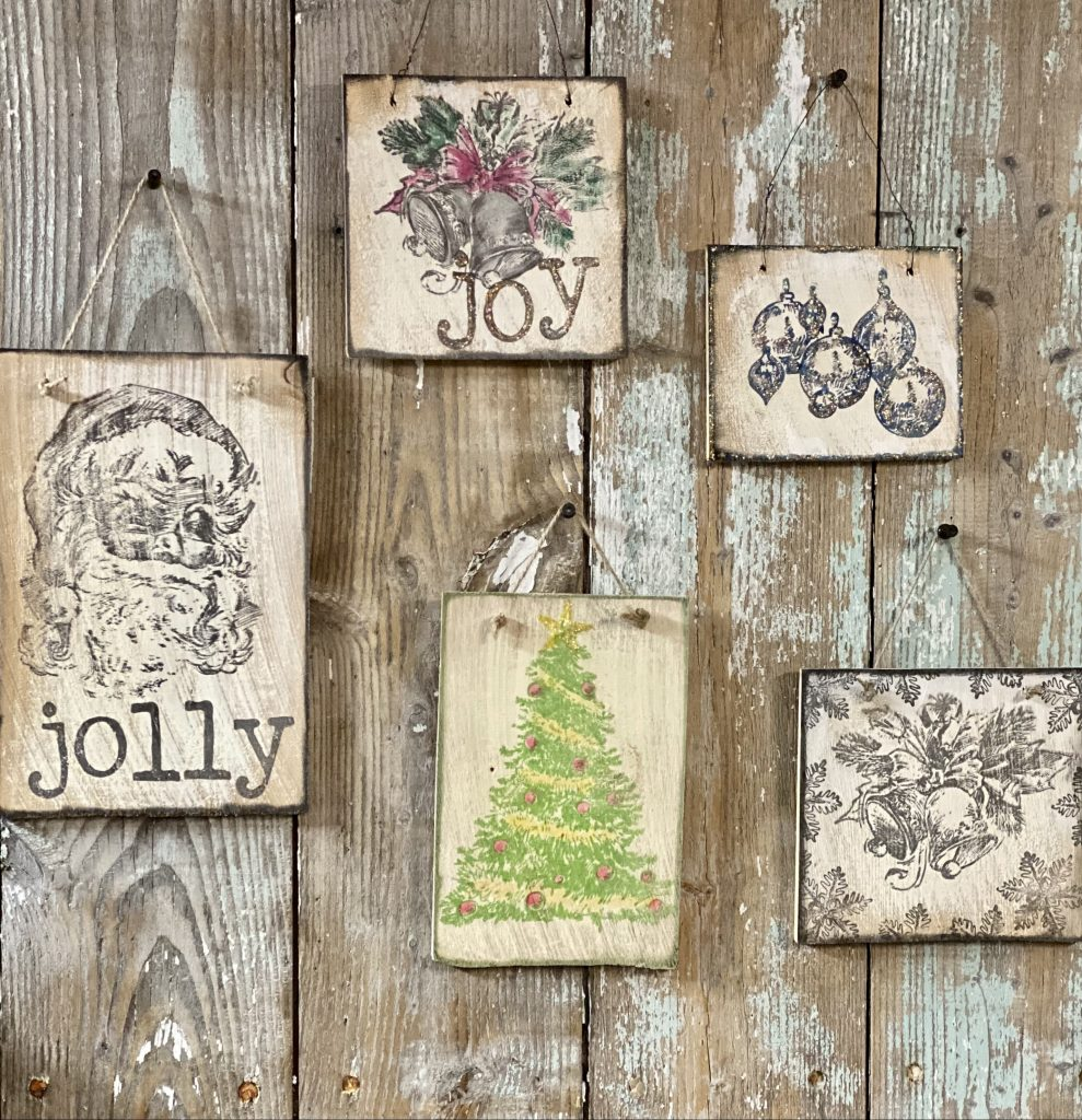 Easy Christmas craft project produced ornaments and Christmas decor