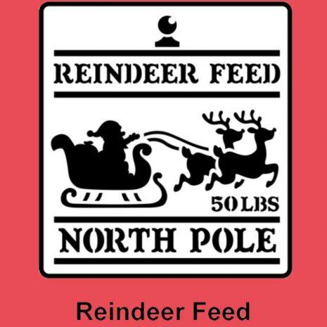 JRV Stencil Reindeer Feed