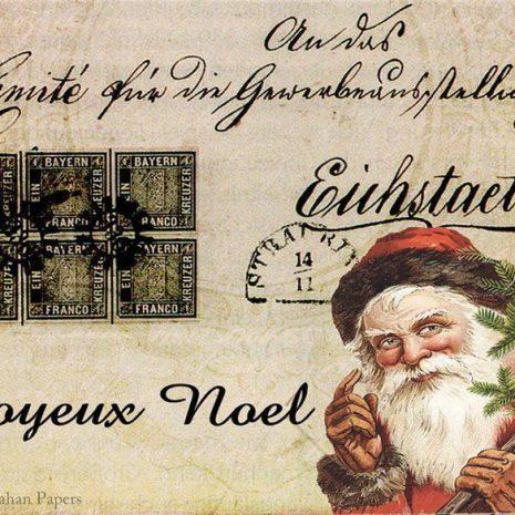 Joyeux Noel Saint Nick paper