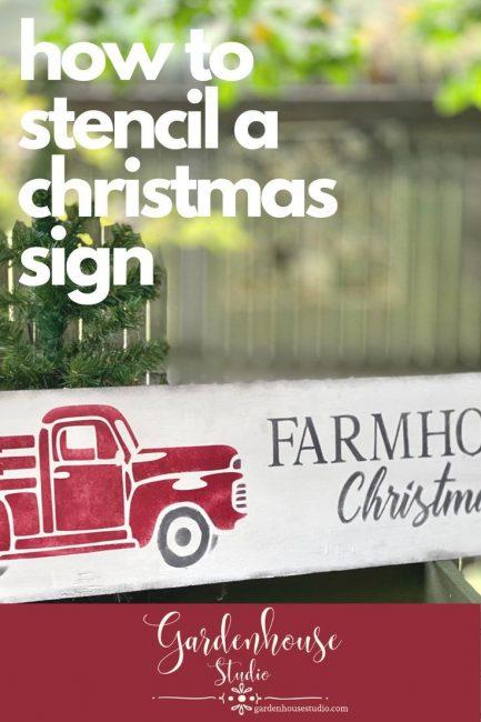 How to Stencil a Farmhouse Christmas Sign